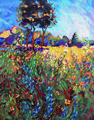 Wall Art - Painting - Central Texas Spring Pasture by Charles Wallis