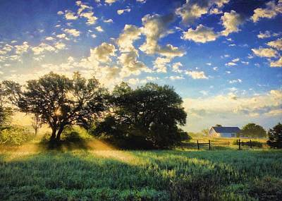 Central Texas Sunrise Art Print