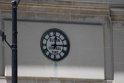 Photograph - Central Time A Historic Elgin Clock In Chi Town by Colleen Cornelius