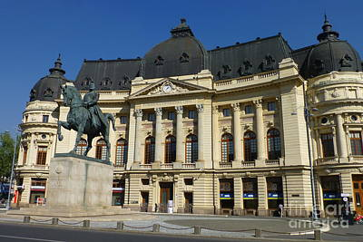 Photograph - Central University Library, Bucharest by Barbie Corbett-Newmin