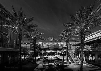 Art Print featuring the photograph Centro Ybor Bw by Marvin Spates