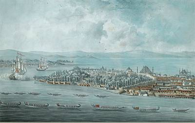 Boating Painting - Century French Five Views Of Constantinople by Eastern Accents