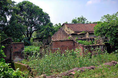 Photograph - Century Old Buildings In Shilong by Endre Balogh