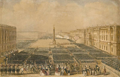 Century Review Of The Troops In Palace  Art Print