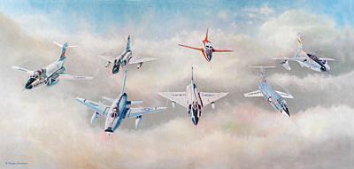 Painting - Century Series Fantasy Formation II by Douglas Castleman