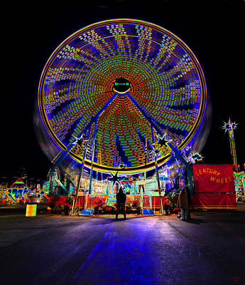 Florida State Fair Photograph - Century Wheel by David Lee Thompson