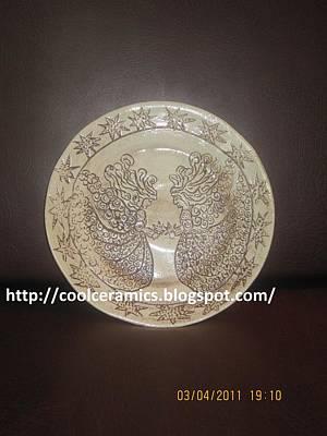Ceramic Art - Ceramic Plate  by Umber Khan