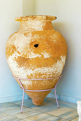 Photograph - Ceramic Pot From Olympia. by Marek Poplawski