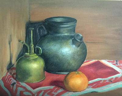 Painting - Ceramic Pot Still Life by Therese Legere
