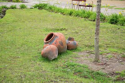 Digital Art - Ceramic Pots At Huancas Plazza Des Armas by Carol Ailles