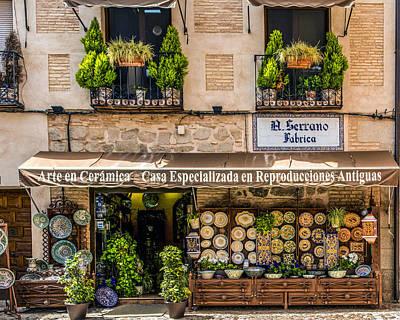 Ceramics Photograph - Ceramic Shop - Toledo Spain by Jon Berghoff