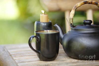 Ceremonial Tea Cup Photograph - Ceramic Tea Set by Kicka Witte - Printscapes