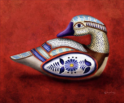 Ceramic Mixed Media - Ceramic Tropical Duck by Enrique Aguilar
