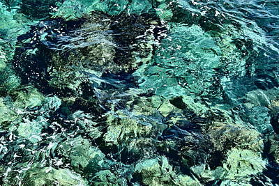 Photograph - Ceramic Water 2 - Artistic Ocean by Elena Schaelike