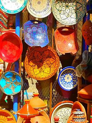 Photograph - Ceramics Morocco by Vijay Sharon Govender