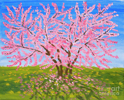 Painting - Cercis Tree, Oil Painting by Irina Afonskaya
