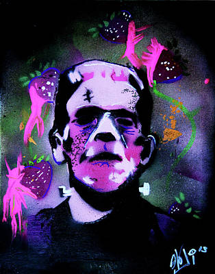 Painting - Cereal Killers - Frankenberry by eVol i