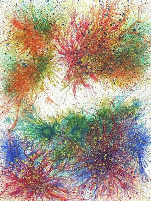 Brain Painting - Cerebral Rhapsody During A Neurofeedback #583 by Rainbow Artist Orlando L aka Kevin Orlando Lau