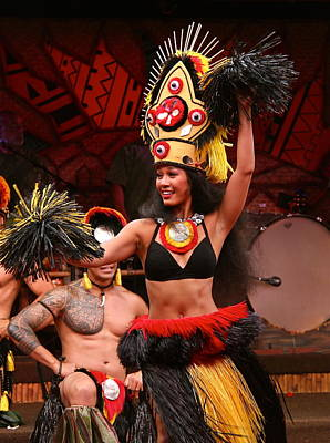 Tongan Photograph - Ceremonial Dance Of Tonga by Denise Mazzocco