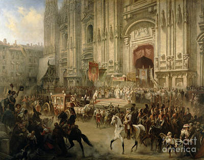 Horse And Carriage Painting - Ceremonial Reception by Adolf Jossifowitsch Charlemagne