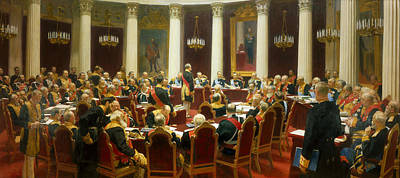 Painting - Ceremonial Sitting Of The State Council On 7 May 1901 Marking The Centenary Of Its Foundation by Ilya Repin
