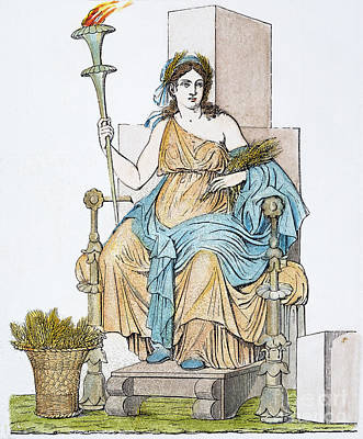 Ceres Enthroned Art Print