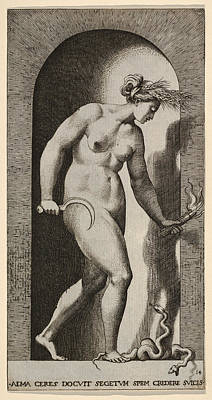 Drawing - Ceres  by Giovanni Jacopo Caraglio