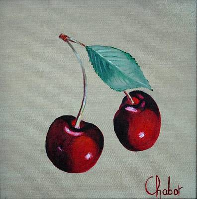 Cerises Art Print by Veronique Chabot