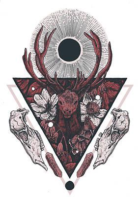 Eyes Mixed Media - Cernunnos by Alchemy