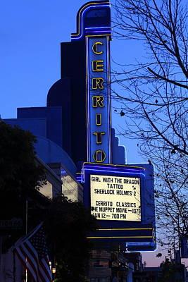 Photograph - Cerrito Theater In El Cerrito California . 7d11034 by Wingsdomain Art and Photography