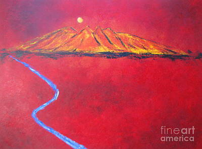 Painting - Cerro In Red by Sonia Flores Ruiz