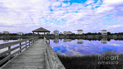Photograph - Cerulean Hues At Topsail Island by Kelly Nowak