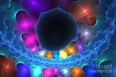 Digital Art - Cerulean Orbs by Kim Sy Ok