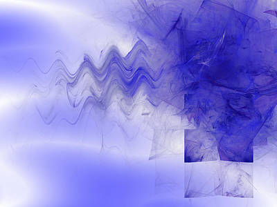 Digital Art - Cerulian Outlands by Jeff Iverson