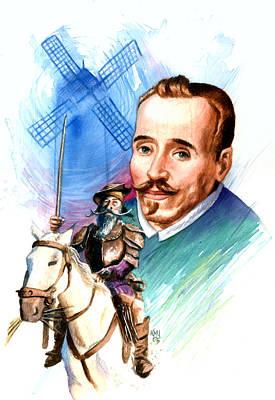 Spaniards Painting - Cervantes by Ken Meyer jr