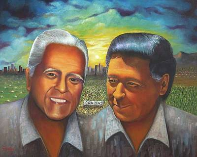 Painting - Cesar And Dionicio by Herman Sillas