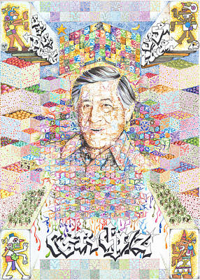 Drawing - Cesar Chavez- Sombra De Arreguin by Doug Johnson