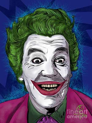 Painting - Cesar Romero's Joker by Joseph Burke