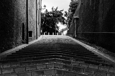 Castle Photograph - Cesena - Rocca Malatestiana - Stairs by Andrea Mazzocchetti