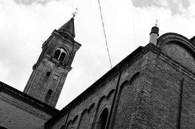 Photograph - Cesena - The Cathedral In Bw by Andrea Mazzocchetti