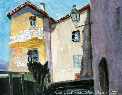 Cesi Apartments Italy Art Print by Tom Herrin