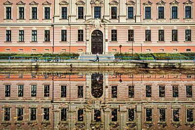 Photograph - Ceske Budejovice River Reflections - Czechia by Stuart Litoff