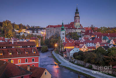 Photograph - Cesky Krumlov At Night by JR Photography