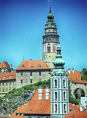 Photograph - Cesky Krumlov Castle Tower by C H Apperson