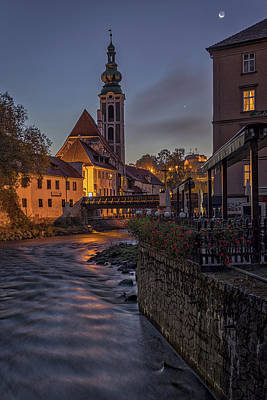 Photograph - Cesky Krumlov Dawn #2 - Czech Republic by Stuart Litoff