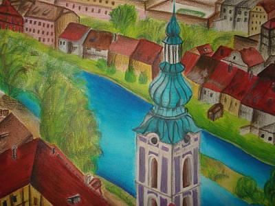 Prague Czech Republic Mixed Media - Cesky Krumlov by Latha  Vasudevan