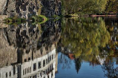 Photograph - Cesky Krumlov River Reflections - Czechia by Stuart Litoff