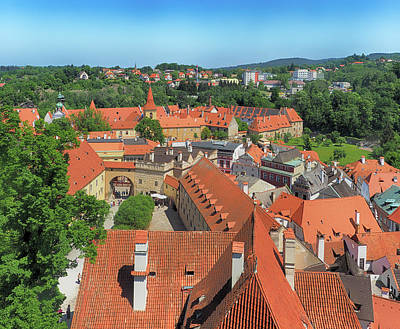 Photograph - Cesky Krumlov Rooftops by C H Apperson
