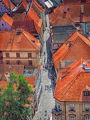 Photograph - Cesky Krumlov Street by C H Apperson