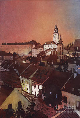 Cesky Krumlov Sunset Art Print by Ryan Fox